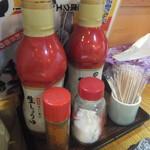 大衆酒蔵 日本海 - 卓上の調味料(2018.10.26)