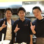 Japanese Soba Noodles 蔦 - 4年連続一つ星の大西店主とと蔦スタッフ