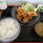 江戸家 - 鶏から揚げ定食700円税込み