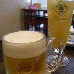 9753614 - 「ハートランド生ビール」と「パイナップルジュース」