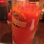 磯子酒場 ぼっちまん - 【'18.11】トマトがやっと溶けてイイ感じに!でもトマトシロップ入れないと、水割りだとちょっと味がしないな~