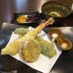 縁 - 天ぷら・香の物・蕎麦プリン