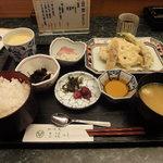 地酒蔵 三篠川 - 日替わり定食(天ぷら)