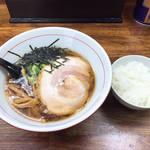 みそまる麺次郎 - 焼干し醤油 ¥680 サービスライス