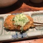 串の坊 - 「風」(税込み1080円)の最初はサーモン