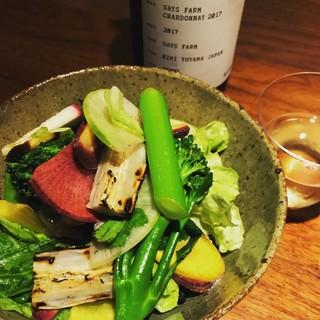 千葉県サンバファームの有機野菜サラダ