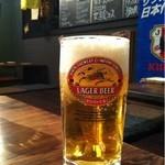 鉄板酒場 焼酎ミュージアム - とりあえず、ビール頂きます(・・;)