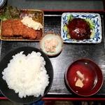 Maguroryourikibun - 【お好み定食(B) 950円】ツナカツとツナバーグをチョイスしました。