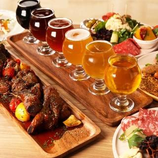 クラフトビール×お料理のペアリングも楽しんで♪