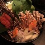 97562078 - 明太子鶏鍋の具材