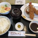 97563415 - 大葉チキンロール、海老フライ定食