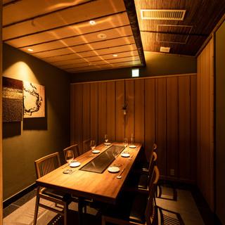 個室は接待や会食でお使い頂けます