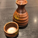 そじ坊 - 日本酒(小) 480円。