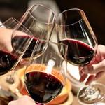 餃子とスパークリング バブルス - 赤ワインで乾杯〜♪