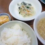 中国家庭料理 MAO - ご飯と副菜3種