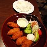 Ginzaraion - <広島県産>牡蠣フライランチ (税込)980円(2018.11.30)