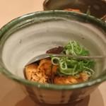 鮨・酒・肴 杉玉 - あんこうの炙り肝ポン酢