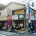 観音食堂 - 店舗外観 商店街にあります。
