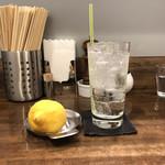 創作麺工房 鳴龍 - 「生レモンサワー」400円