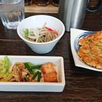 97582594 - 野菜とサラダ、チヂミ2018.11