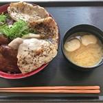 石焼きトンテキ ぶたを - 二色ぶた丼(大盛)