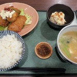 魚まる - 料理写真:・「まぐろ南蛮と豚汁定食(\900)」