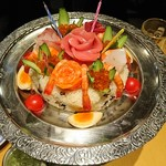らーめん酒房 遊麺 - ちらし寿司ケーキ