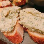 キッチン タツヤ ストーリエ - お任せ前菜もりあわせ:大人のポテトサラダ&バケット