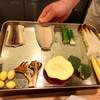 日本料理 武蔵野 - 料理写真:今日天ぷらにしてくれる食材を先に見せてくれます。