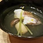 日本料理 e. - ハタの葛打ちのお吸い