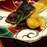 日本料理 e. - イワナの藁焼き