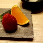 日本料理 e. - 水菓子 メープルラム酒バナナのアイス