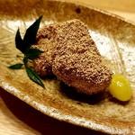 日本料理 e. - 海老芋のけしの実揚げ