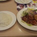 ガスト - 料理写真:チキングリル和風ソース&アジフライ(499円)