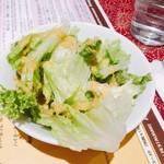 アンナプルナダイニング - ランチのセットサラダ。ドレッシングもさっぱりしていて普通に美味しい。