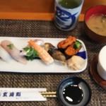 玄海鮨 - 松にぎり 貝汁  茶碗蒸し