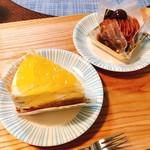 バッケンモーツァルト - りんごのチーズケーキ、モンブラン