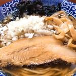 肉煮干中華そば 鈴木ラーメン店 - 肉玉ねぎメンマ磯海苔