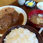 とんかつ 喫茶&食事 ブローニュー - ハンバーグメンチ 980円