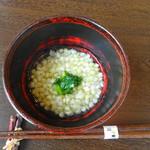 石臼挽き蕎麦香房 山の実 - そばの実のお粥