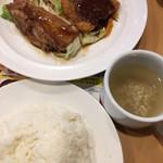 ガスト - 料理写真:☆★チキングリル和風ソース&アジフライ セット★☆