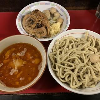 蓮爾 - 料理写真:【2018.11.28】小つけ麺850+巻きチャー200円+うずら100円