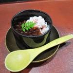 いちわ - 料理写真:蟹のほぐし身にイクラ、山椒添え。      2018.11.22