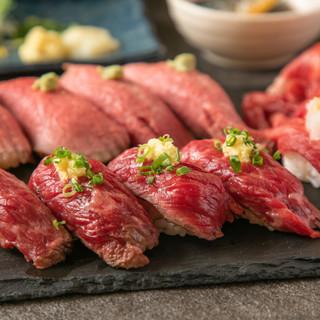 メディアで話題沸騰中の肉寿司がなんと食べ放題♪