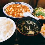 凛華 - 四川風麻婆豆腐の定食セット