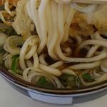 高田うどん店 - 細いうどん麺