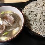 信州蕎麦 誉 - 料理写真:鴨汁つけ蕎麦@1,400円 大盛り+200円