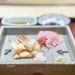 一本木石橋 - 金目鯛、 北海道直送の北寄貝