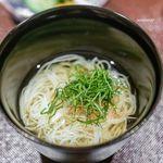 一本木石橋 - 紫蘇と茗荷の素麺