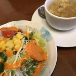 97624124 - スープとサラダ